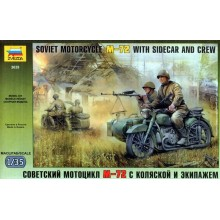 M-72 Motorcycle with Sidecar and Crew