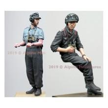 German Panzer Commander Summer Set - 2 figs