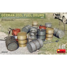 German 200L Fuel Drum Set WW2 1:35