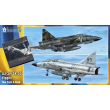 1:72 SAAB 37 Viggen 1:72 Duo Pack & Book