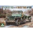 1/35 U.S. Army 1/4 ton utility truck with 1/4 ton utility trailer & MP figure