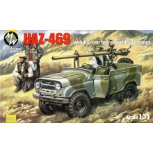 1:35 UAZ-469 North alliance Afganistan, 106 mm gun