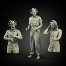 German summer shirt tank crew (3 figures)