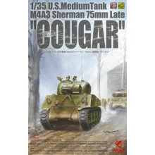 1:35 U.S Medium Tank M4A3 Sherman 75mm Late Cougar