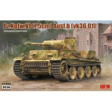 1:35 Pz.Kpfw.VI (7,5cm) Ausf.B (VK36.01) with Workable Track Links