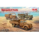 Wehrmacht 3t Trucks (V3000S, KHD S3000, L3000S) in 1:35