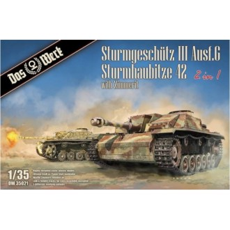 PRE-ORDER 1:35 StuG III Ausf.G , StuH 42 2in1 mit Zimmerit Available in July