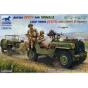 BRITISH RECCE AND SIGNALS LIGHT TRUCK (2 KITS ) with CREWS 1:48
