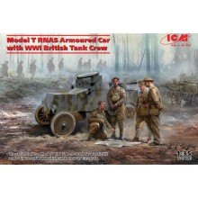 1:35 Model T RNAS Armoured Car with WWI British Tank Crew