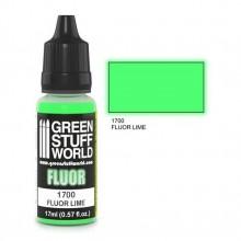 Fluor Paint Lime 17ml Fluorescent acrylic
