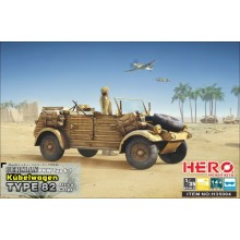 1:35 Kubelwagen Type82 (Africa Korps + MG34 + Fuel Tank Frame + Balloon Tires)