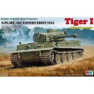 1:35 Tiger I Early Production with Full Interior