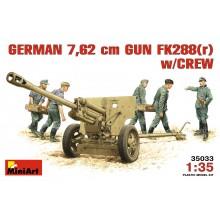 1:35 GERMAN 7,62 сm GUN FK288(r) w/CREW