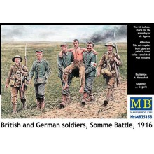 1:35 British and German soldiers,Somme Battle