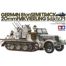 1:35 GERMAN 8 TON HALFTRACK FLAKVIERLING 38 - Sdkfz.7/1