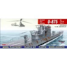 1:400 U-875 typ U-IX D2 Turm II + Fa-330 German Submarine