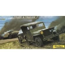 1:35 Jeep Willis & Trailer