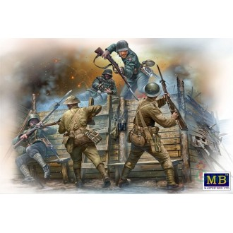 1:35 British infantry before attack,WWI era