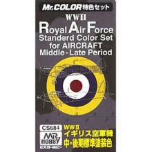 SET 3 COLORES PARA AVIONES RAF MIDDLE/LATE PERIOD