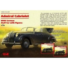 Opel Admiral Cabriolet, WWII German Staff Car