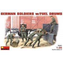 GERMAN SOLDIERS w/FUEL DRUMS