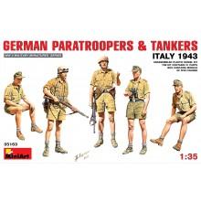 GERMAN PARATROOPERS & TANKERS (Italy 1943)
