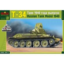 Т-34 RUSSIAN MEDIUM TANK, MODEL 1940 1:35