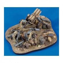 VIÑETA 1/35 Nebelwerfer Base, Ammunition, Gear & Crew WWII