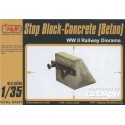 1:35 Stop Block-Concrete (Beton) WW II Railway Diorama