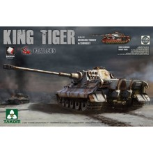 1:35 WWII German King Tiger Henschel w/Zimmerit and interior